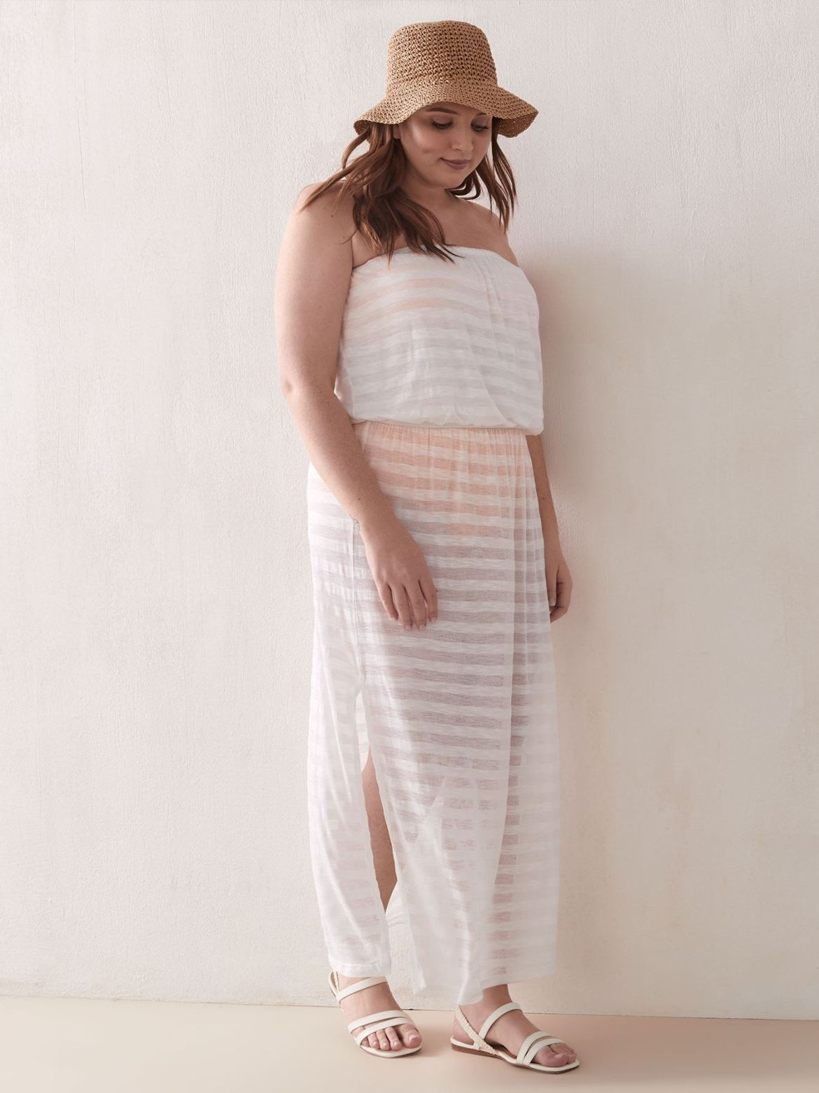 Striped Sunset Maxi Dress - Cover Me