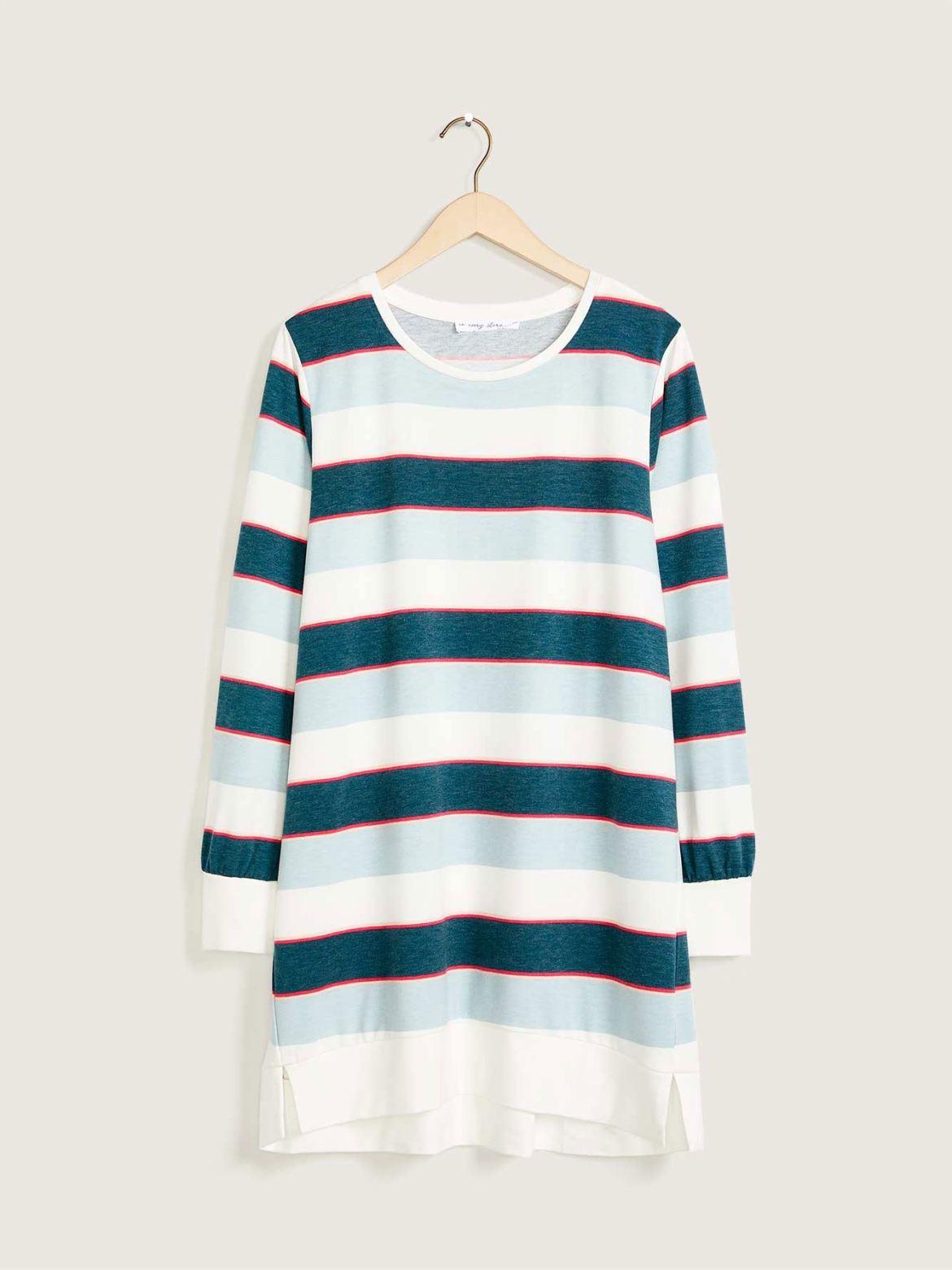Printed Tunic Sweatshirt - In Every Story