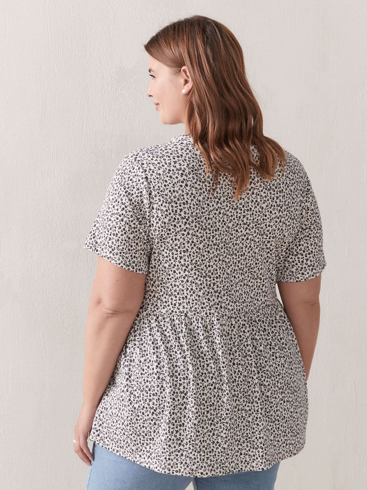 Short Sleeve A-Line Peplum Top - In Every Story