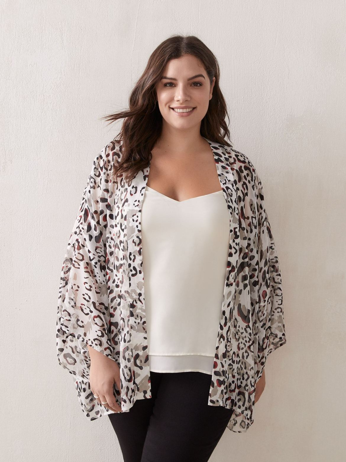 Printed Woven Cover-Up Kimono - In Every Story