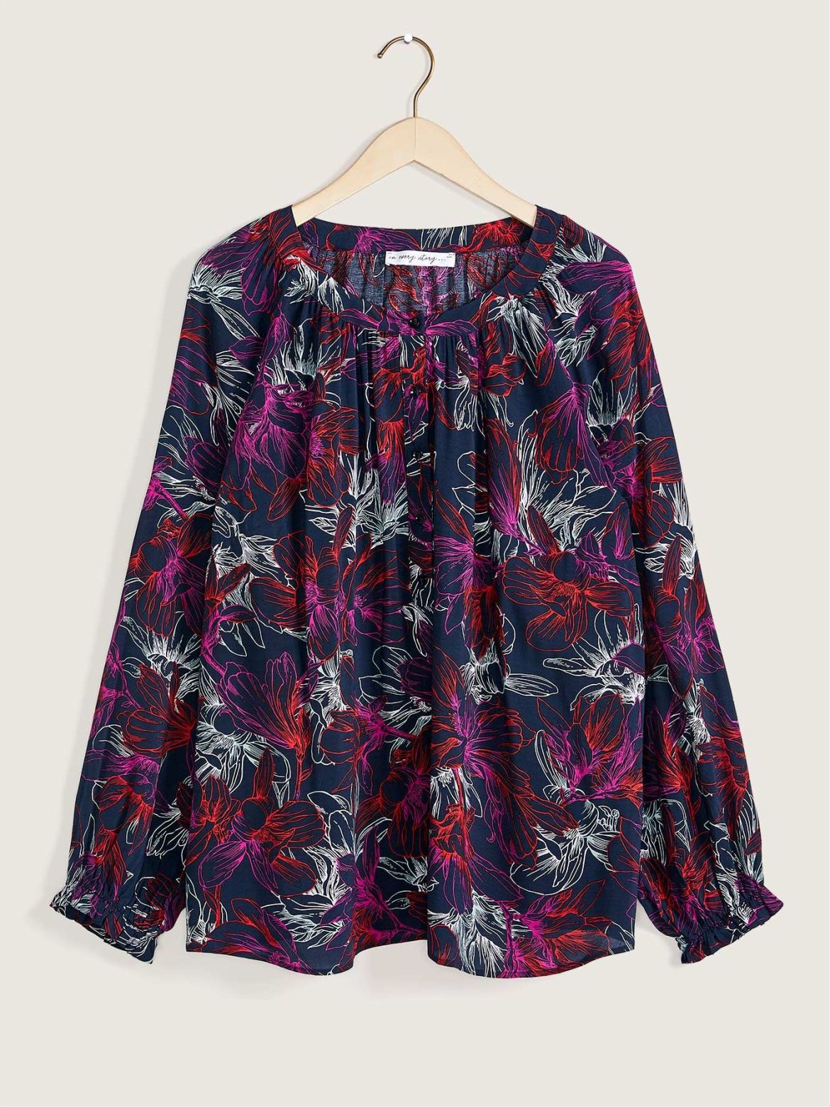 Printed Woven Peasant Blouse - In Every Story