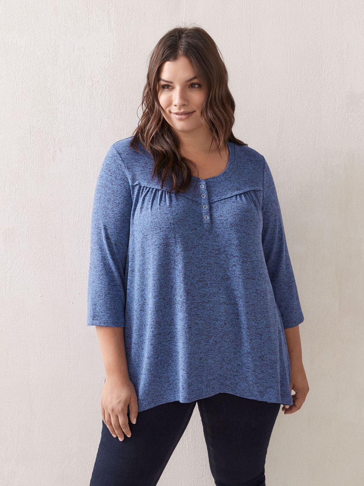 3/4 Sleeve Crew Neck Tunic Top - In Every Story