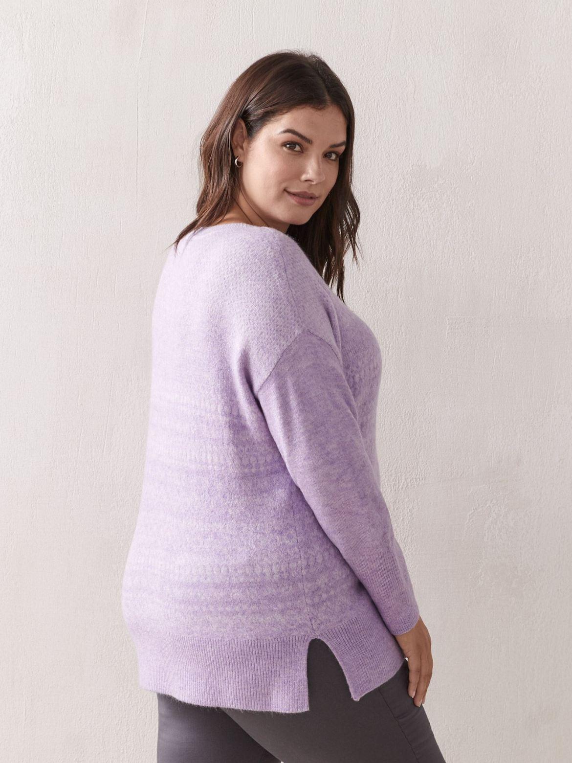 Fairisle Crew Neck Sweater - Addition Elle