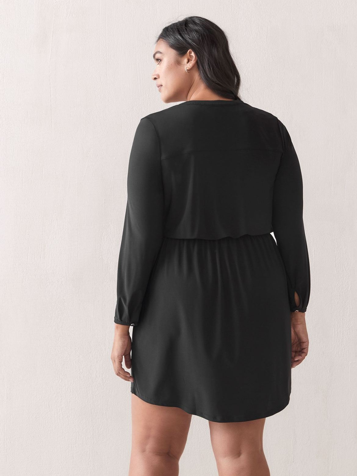 Long-Sleeve Shirt Dress - Addition Elle
