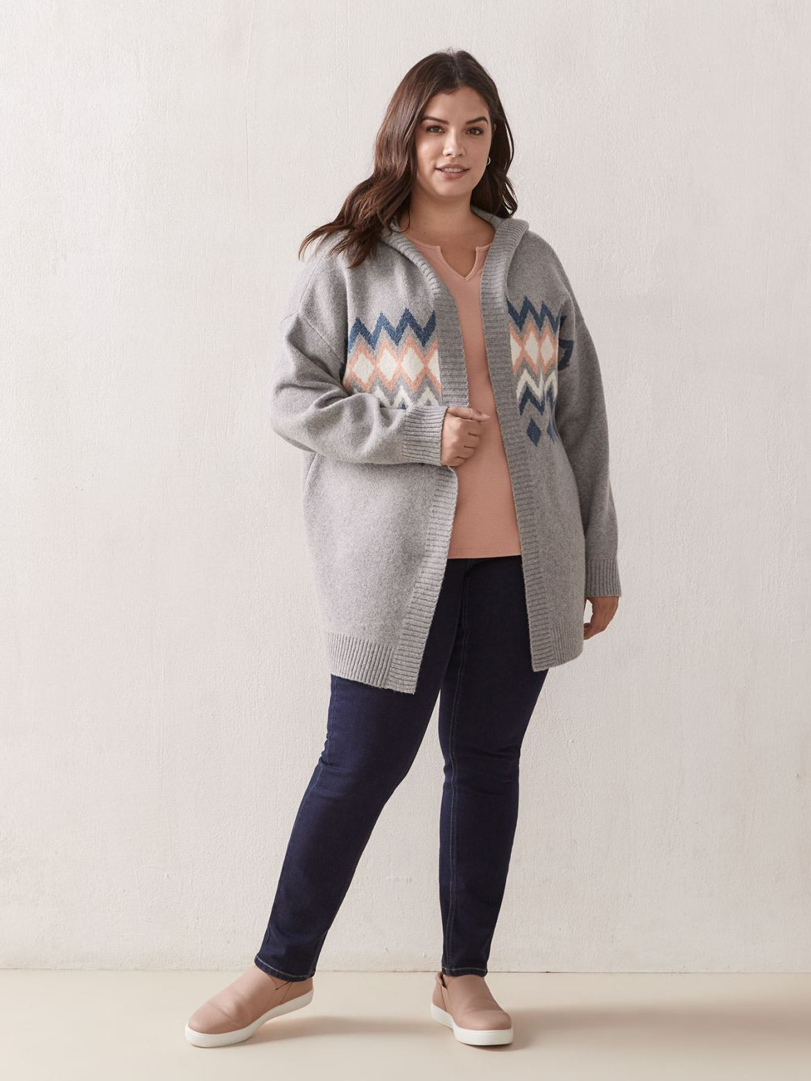 Long Tunic Cardigan With Hood – In Every Story