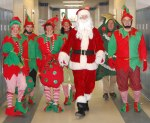 PM staff as Santa and his elves