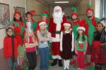 Santa, elves and students