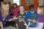 Martic TSA student talks to elementary students