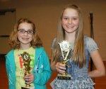 Pequea Elementary sixth grade student Emlee Charles and Hambright Elementary sixth grade student Ava Dunford-Groves