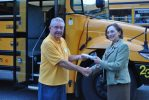HS bus driver with Dr. Shaffer