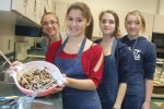 students making cookies