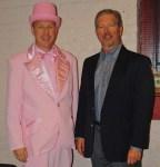 Dr. Leichtliter and Lancaster chamber board chairman Jim Adams.