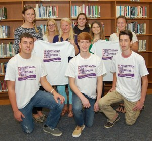 Front row, from left, Ean Renshaw, Collin Rineer, Trent Barbusca; back row, from left, Maura Leichliter, Healey Miller, Cayla Hurlburt, Daria Degriareva and Haley Newton.