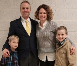 Dr. Jerry Egan with his wife, Pam, and sons Chace, left, and Gavin.