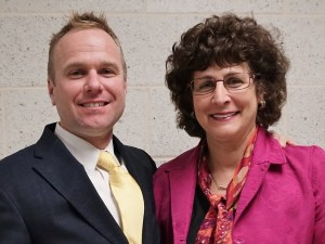 Dr. Jerry Egan and Vicki Hallock