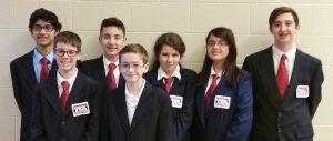 Manor MS TSA participants, from left, Neel Mahapatra, Josh Gerlach, Seve Flores, Kyler Stigleman, Isabella Price-Duble, Kaylee Jackson and Bryce Julian.