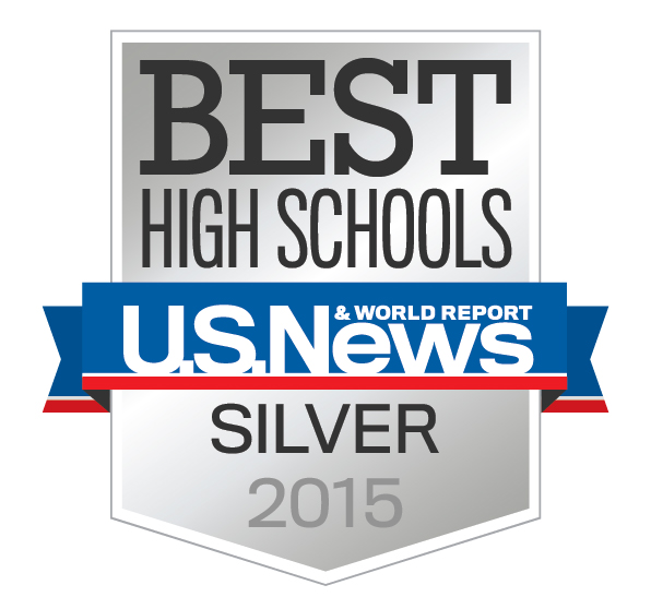 Best High Schools Silver Award logo from US News and World Report
