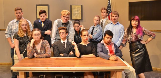Cast members include, front row, from left, Skyla Taglieri, Maddie Beatty, Logan Connelly, Claudia Heitland, Kris Boston, Kassidy Ponton; back row, from left, Parker Brown, Alex Anderson, Garrison Webster, Hailey Fafel, Logan Connelly, Max Minnick and Alex Patterson.