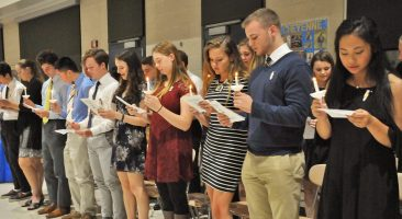 National Honor Society candle sing