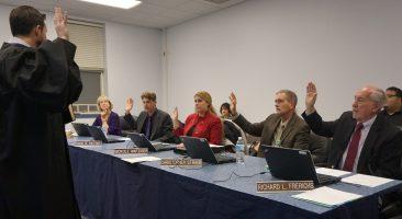 Penn Manor school directors being sworn in