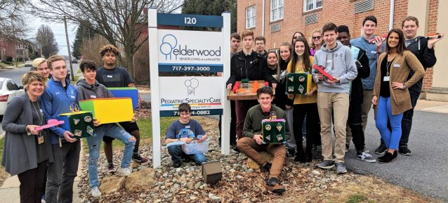 Students deliver toys to hospital