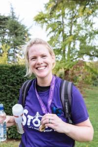 Heidi Loughlin gets her medal