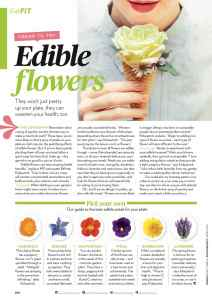 Edible flowers magazine feature