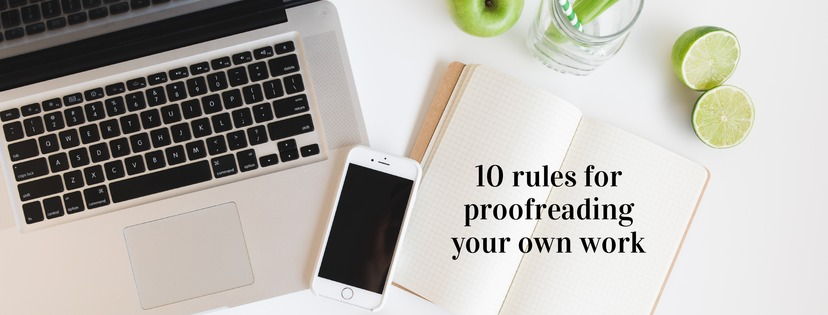 Proofreading your own work