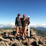 Angie Morgan on top of Katahdin.