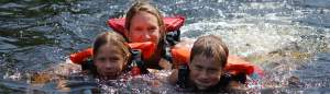 Family white water rafting Maine.