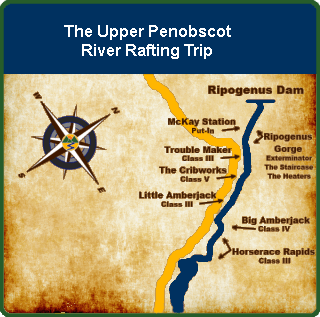 Upper Penobscot Maine River Rafting Trip