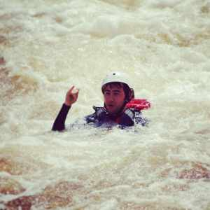 Sometimes whitewater swims happen.