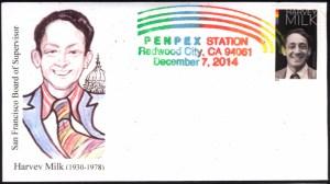 2014 PENPEX Cachet - Harvey Milk Stamp