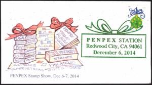 2014 PENPEX Cachet - Christmas Stamp