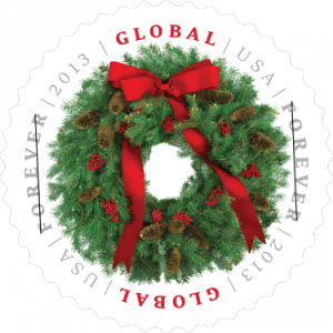 Evergreen Wreath Stamp