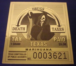Texas Marihuana Tax Stamp