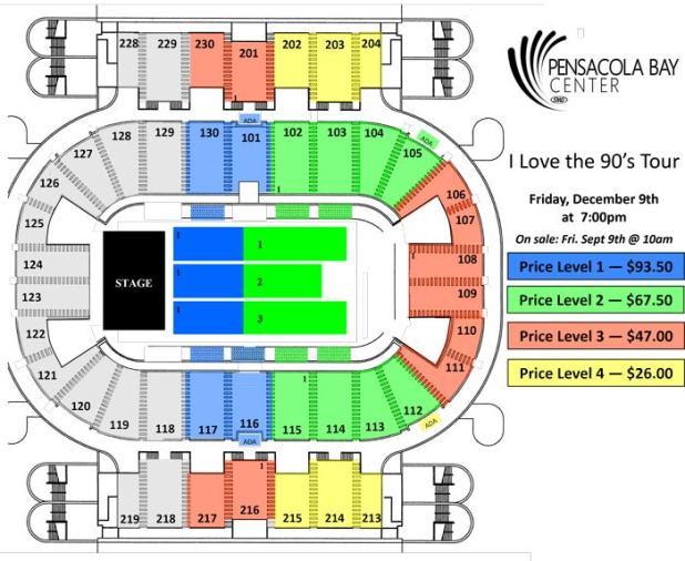 Pensacola Civic Center Seating Brokeasshome Com