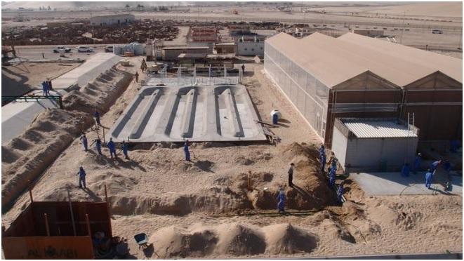 Construcción del Proyecto piloto Bosque del Sáhara en Qatar. Fuente: http://saharaforestproject.com/