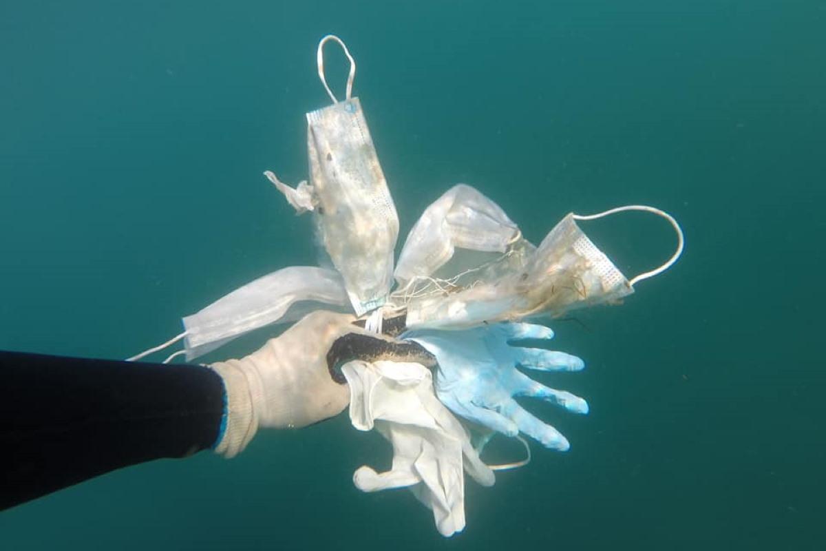 Em breve no Mediterrâneo haverá mais máscaras do que águas-vivas: as imagens do fundo do mar da Riviera Francesa