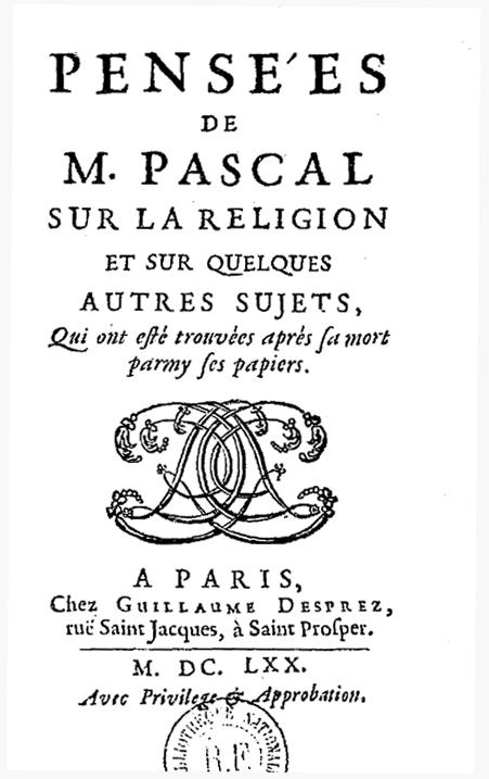 """Résultat de recherche d'images pour """"pensées pascal"""""""