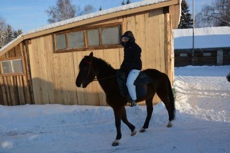 Tsveti sur un cheval
