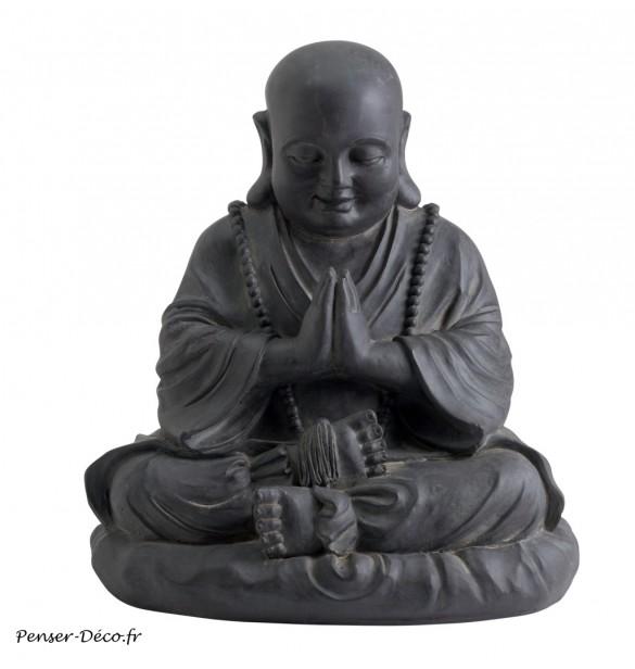 happy buddha statue decoration de jardin penser deco fr