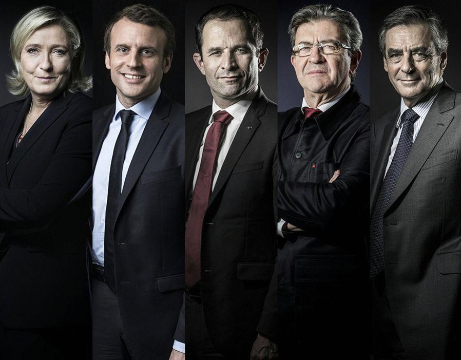 Αποτέλεσμα εικόνας για οι πεντε υποψήφιοι στη Γαλλια
