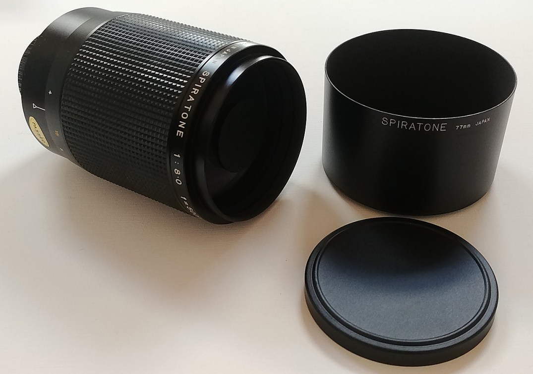 A Spiratone Minitel-M 500mm F/8 Mirror Lens found on the PentaxForums.