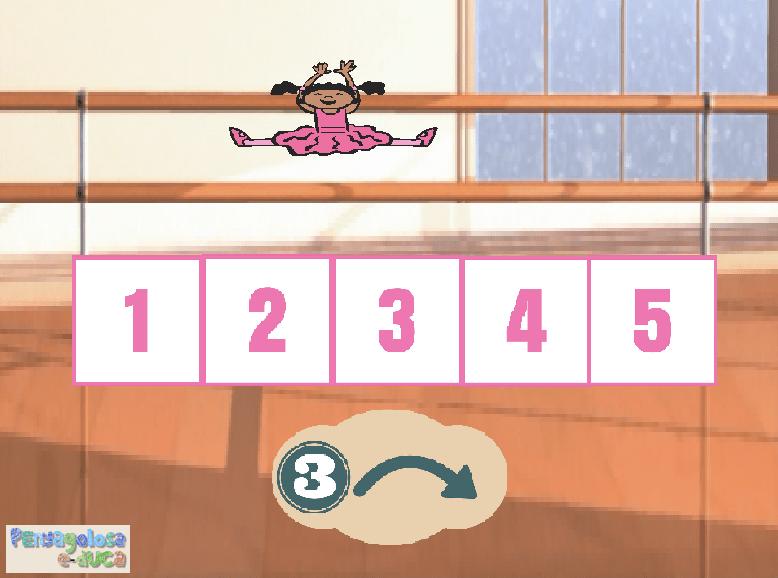¿A qué número llego si avanzo…? (1-5)