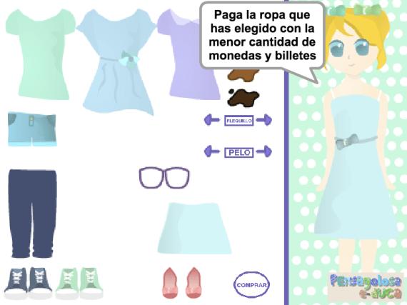 Vamos a comprar ropa (50c, 1, 2, 5 y 10 euros)(10-99)