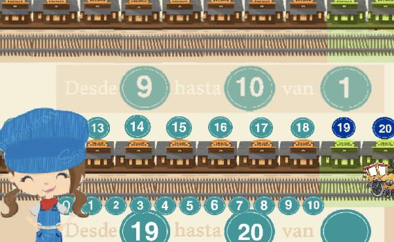 ¿Cuántas estaciones avanza el tren? (1-20)