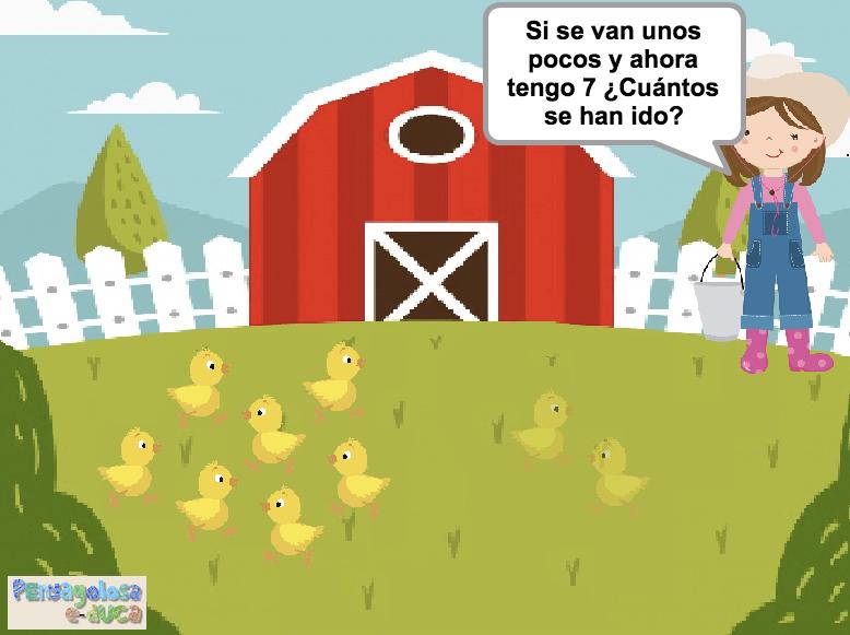 ¿Cuántos animales se han ido? (1-10)