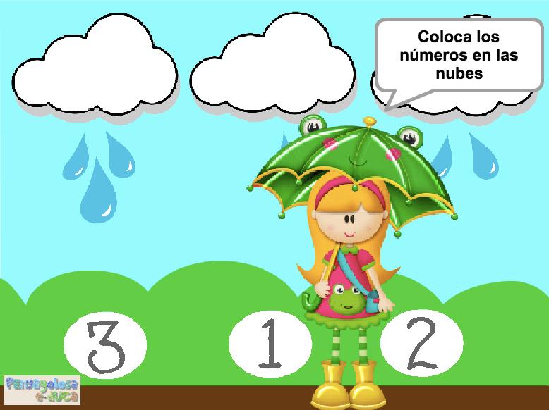 Empareja cada número con su nube (1-3)