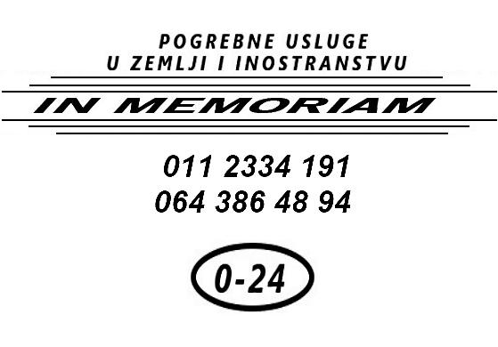 Logotip In Memoriam pogrebne usluge